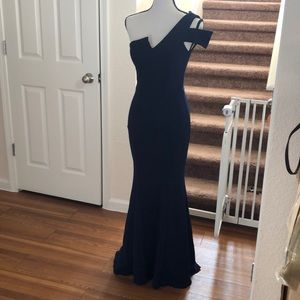 Betsy and Adam A-line gown sz petite 4